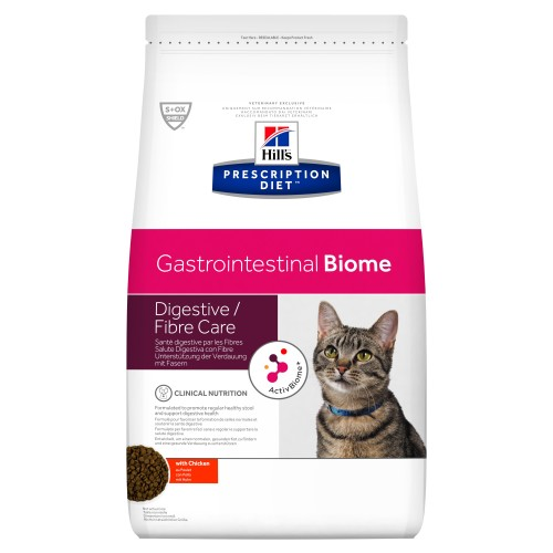 Hills Prescription Diet Gastrointestinal Biome Chicken Dry Adult Cat Food 5kg x 2