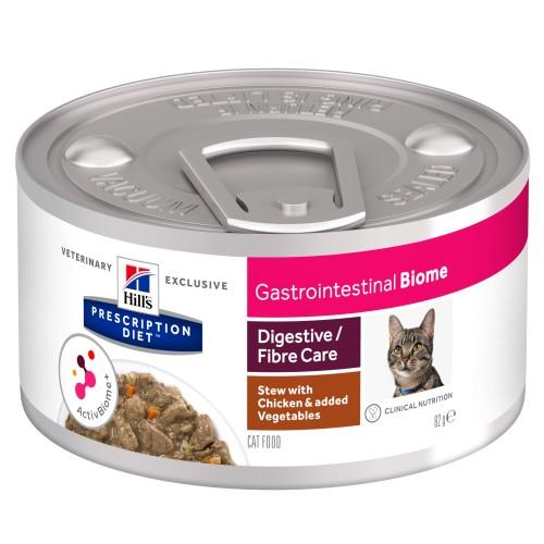 Hills Prescription Diet Gastrointestinal Biome Chicken & Vegetable Stew Wet Adult Cat Food 82g x 48