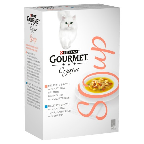 Gourmet Crystal Soup Fish Multipack Adult Cat Food 40g x 40