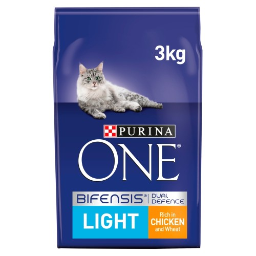 Purina ONE Chicken & Wheat Light Adult Cat Food 3kg x 3