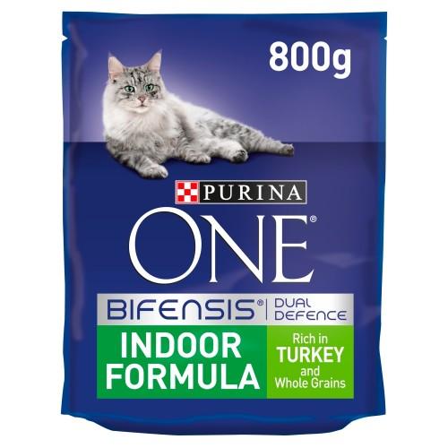 Purina ONE Turkey Indoor Adult Cat Food 800g