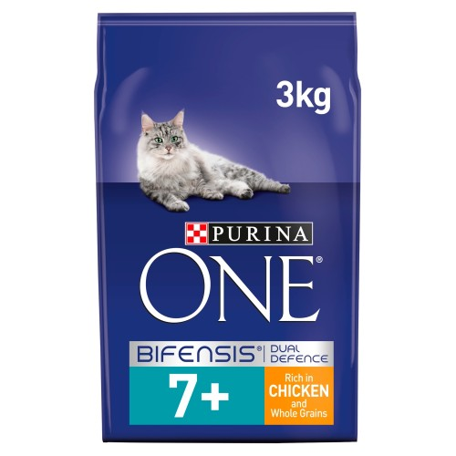Purina ONE Chicken & Wholegrain Senior 7+ Cat Food 3kg x 3