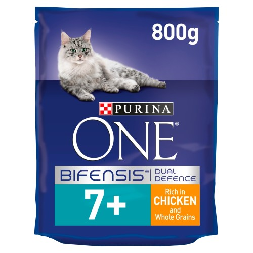 Purina ONE Chicken & Wholegrain Senior 7+ Cat Food 800g
