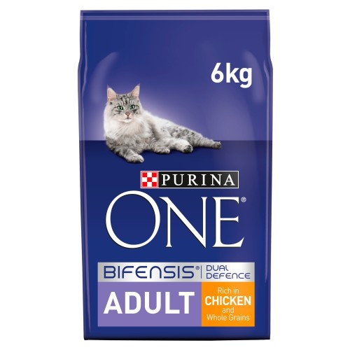 Purina ONE Chicken & Whole Grains Adult Cat Food 6kg x 2