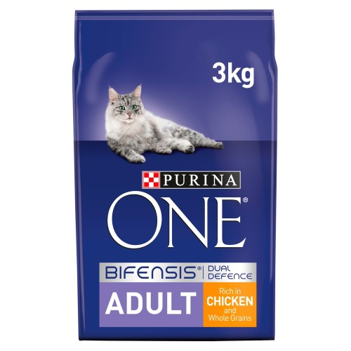 Purina ONE Chicken & Whole Grains Adult Cat Food 3kg x 3