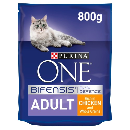 Purina ONE Chicken & Whole Grains Adult Cat Food 800g