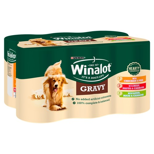 Winalot Casserole Selections In Gravy Wet Adult Dog Food 400g x 12