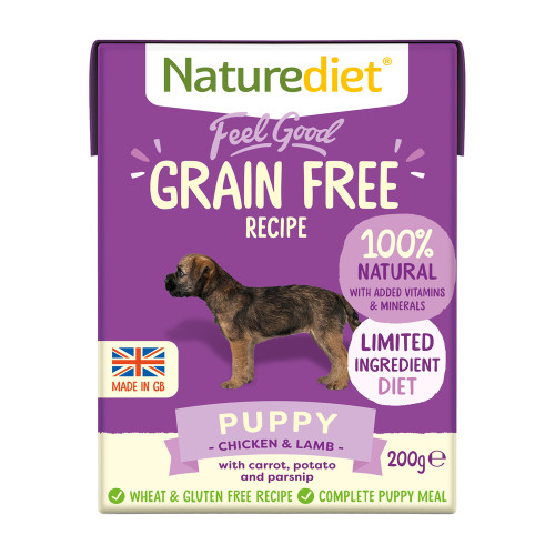 Naturediet Feel Good Grain Free Puppy Wet Dog Food Cartons 200g x 8 Starter Pack