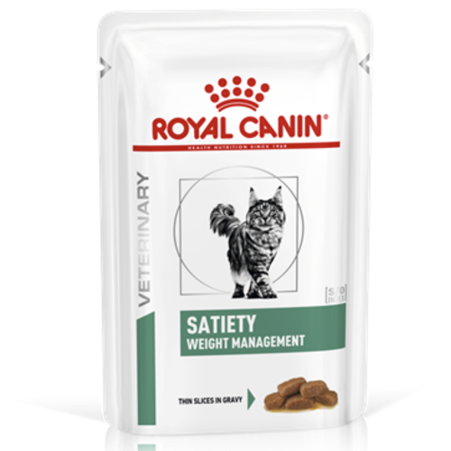 Royal Canin Veterinary Diets Satiety Weight Management Wet Cat Food 85g x 48