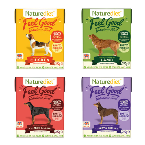 Naturediet Feel Good Selection Pack Wet Adult Dog Food Cartons 390g x 16