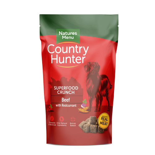Natures Menu Country Hunter Superfood Crunch Beef Adult Dry Dog Food 1.2kg x 6