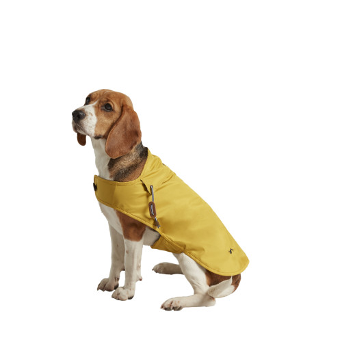 Joules Water-resistant Dog Raincoat in Mustard Large 55cm