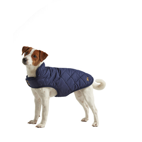 Joules Navy Quilted Dog Coat Large 55cm