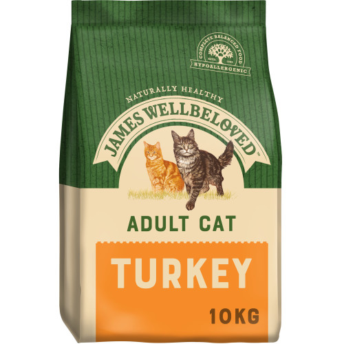 James Wellbeloved Adult Turkey Cat Food 10kg x 2