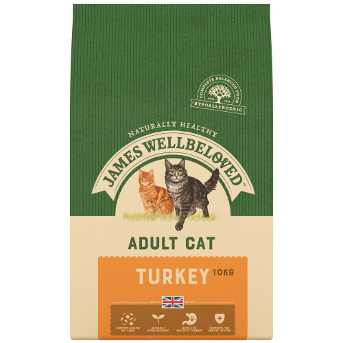 James Wellbeloved Adult Turkey Cat Food 300g
