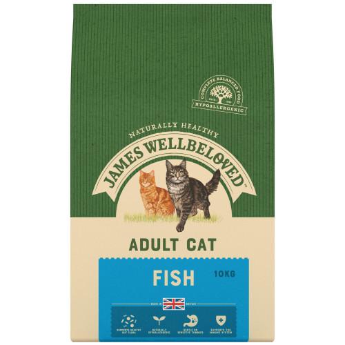James Wellbeloved Adult Fish Cat Food 10kg x 2