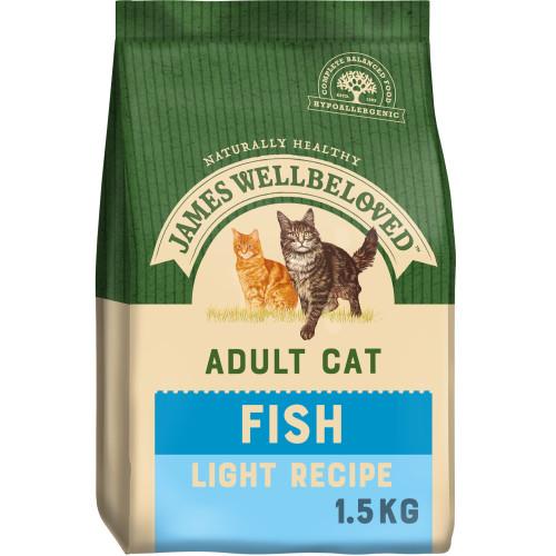 James Wellbeloved Fish Light Adult Cat Food 1.5kg