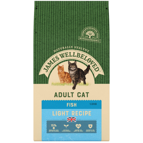 James Wellbeloved Fish Light Adult Cat Food 4kg