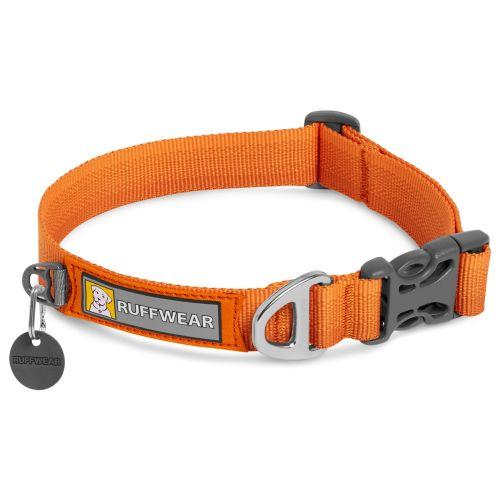 Ruffwear Front Range Dog Collar in Campfire Orange Large