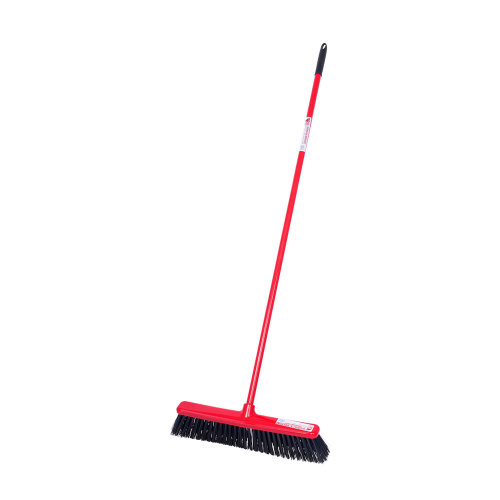 Red Gorilla Broom with Built-in Scraper Broom with Scraper Blade