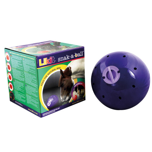 Likit Snak-a-Ball Horse Feeding Ball Purple