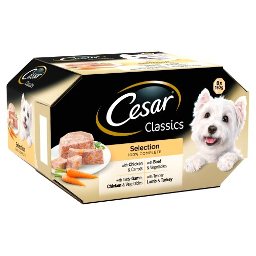 Cesar Classics Mixed Selection in Loaf Wet Adult Dog Food 150g x 24