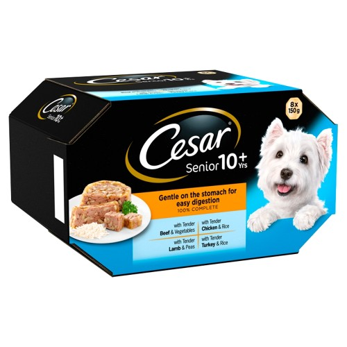 Cesar Classics Mixed Selection in Loaf Wet Senior Dog Food 150g x 24