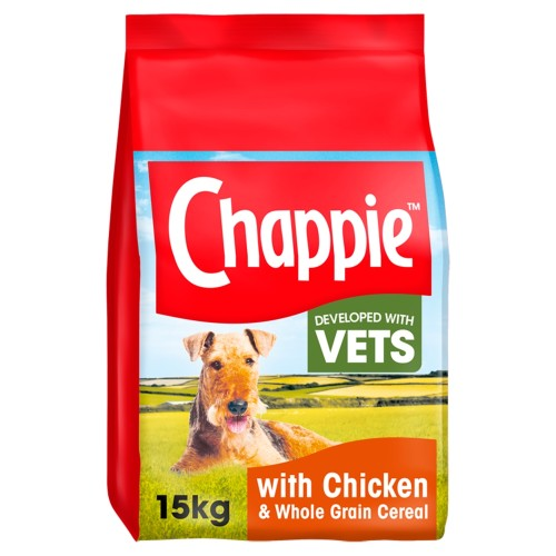 Chappie Chicken & Wholegrain Cereal Adult Dry Dog Food 15kg
