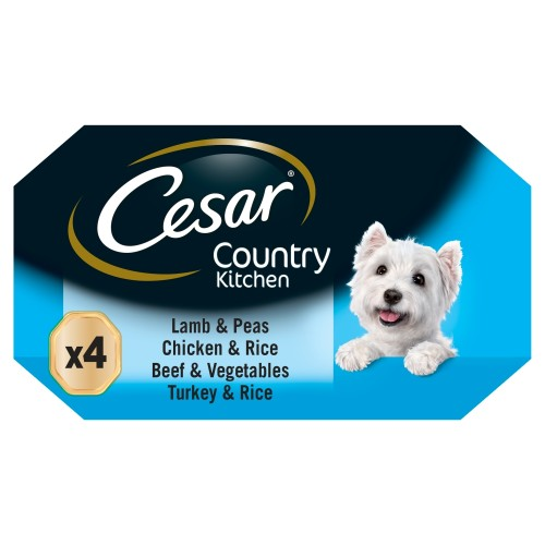 Cesar Trays Recipes Senior Dog Food 150g x 4