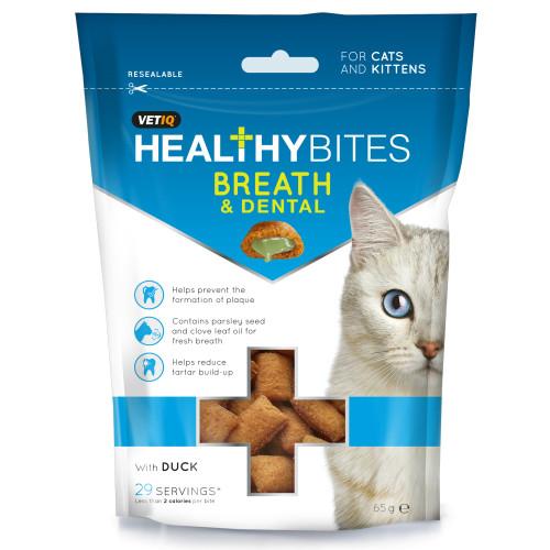 Mark & Chappell VetIQ Breath & Dental Treats for Cats & Kittens 65g