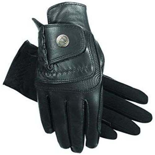 SSG Hybrid Riding Gloves in Black Size 9