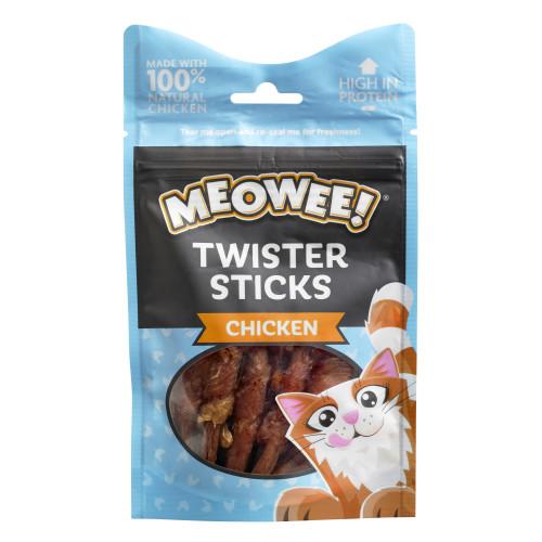 Meowee Twister Sticks Chicken Cat Treats 7 Sticks