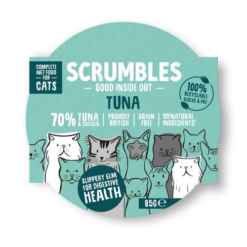 Scrumbles Grain Free Tuna Wet Adult Cat Food 85g x 8