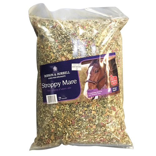 Dodson & Horrell Stroppy Mare Horse Calming Supplement 1kg Refill Bag