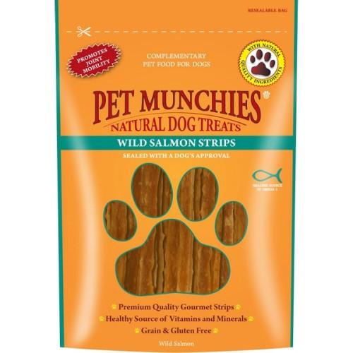 Pet Munchies Natural Salmon Dog Treats 80g - Salmon Strips