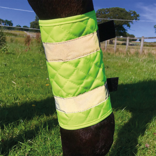 Equisafety Quilted Reflective Leg Boots for Horses Yellow