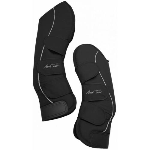 Mark Todd Full Travel Boots with Tail Guard for Horses Black