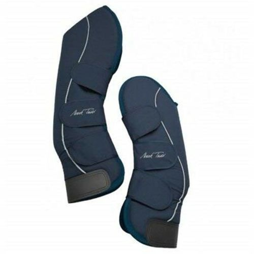 Mark Todd Full Travel Boots with Tail Guard for Horses Navy