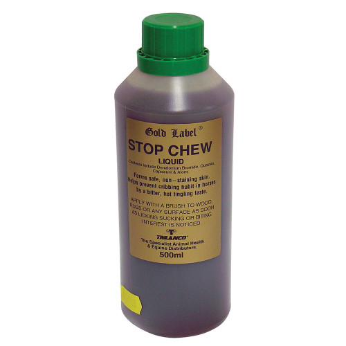 Gold Label Stop Chew Liquid for Horses 500ml