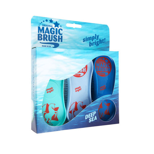 MagicBrush Soft Brush for Horses Pack of 3 - Deep Sea