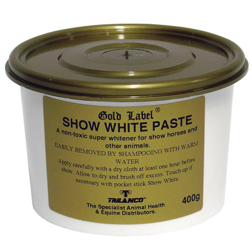 Gold Label Show White Paste for Horses 400g
