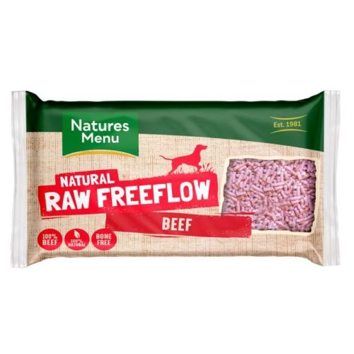 Natures Menu Free Flow Beef Raw Frozen Dog Food 2kg