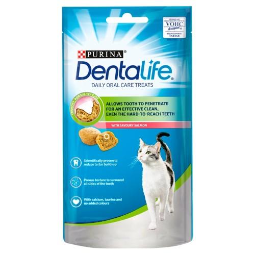 Purina Dentalife Salmon Adult Cat Treats 40g x 8 Chews