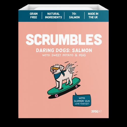 Scrumbles Salmon Wet Adult Dog Food 395g x 30