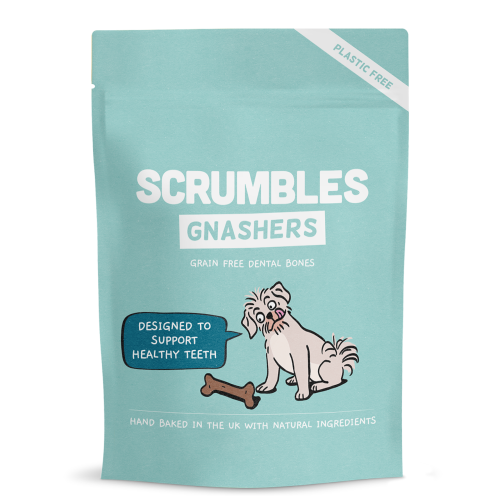 Scrumbles Gnashers Daily Dental Bones for Dogs 150g x 6 SAVER PACK