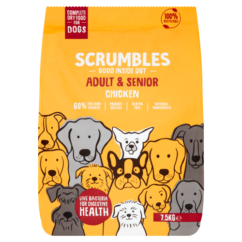 Scrumbles Chicken Adult & Senior Dry Dog Food 7.5kg