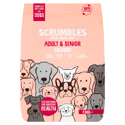 Scrumbles Salmon Adult & Senior Dry Dog Food 7.5kg x 2