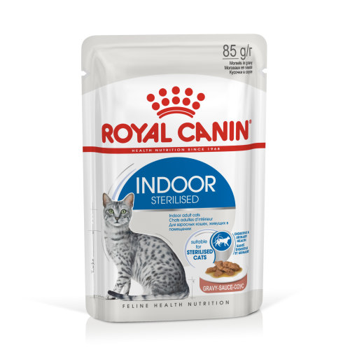 Royal Canin Indoor Sterilised In Gravy Wet Adult Cat Food 85g x 12