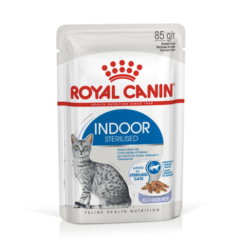 Royal Canin Indoor Sterilised In Jelly Adult Wet Cat Food 85g x 12