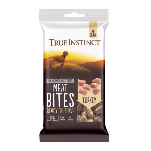 True Instinct Meat Bites Turkey Dog Treats 20g